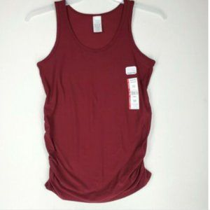Time and Tru Womens Maternity Tank Top sz S Maroon